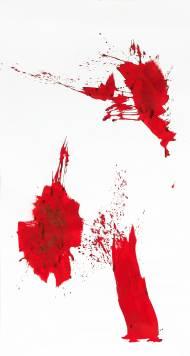 Felder 6 Chinatusche auf Papier, 299 x152 cm, 2016